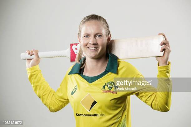 Meg Lanning poses during the Cricket Australia Women's National Squad Player Camp on September 13 2018 in Sydney Australia