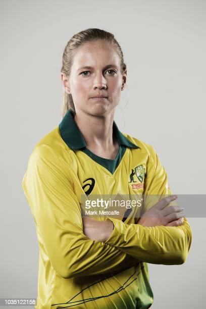 Meg Lanning poses during the Cricket Australia Women's National Squad Player Camp on September 13 2018 in Sydney Australia