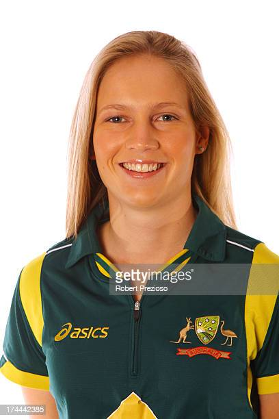 Meg Lanning poses during the official Southern Stars Australian women's cricket team portrait session on August 2 2012 in Melbourne Australia