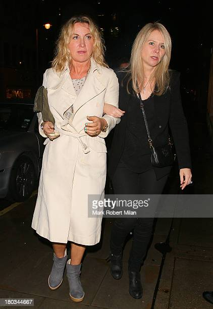 Meg Mathews and Lee Starkey attending the Louis Vuitton Dinner to celebrate the Men's Autumn Winter 2013 Collection on September 11 2013 in London...