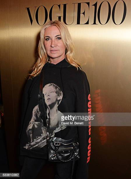 Meg Mathews attends British Vogue's Centenary birthday party at Tramp on May 23 2016 in London England
