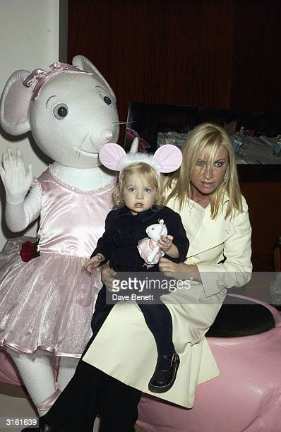Meg Mathews with Annais Gallagher who is Meg's and Noel Gallagher's daughter at the Angelina Ballerina Nutcracker gala preparty on December 3rd 2002...