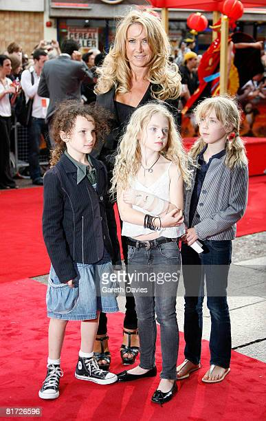 Meg Matthews and Anais arrives at the premier of KungFu Panda at the the Vue CinemaLeicester Square on June 26 2008 in London England