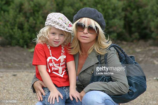 Meg Matthews and Anais Matthews during Will You Be My Primate Day at Hyde Park Sports Centre in London Great Britain
