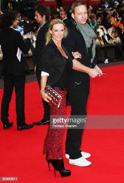 Meg Matthews and guest attend the World Premiere of 'RocknRolla' held at the Odeon West End Leicester Square on September 1 2008 in London England