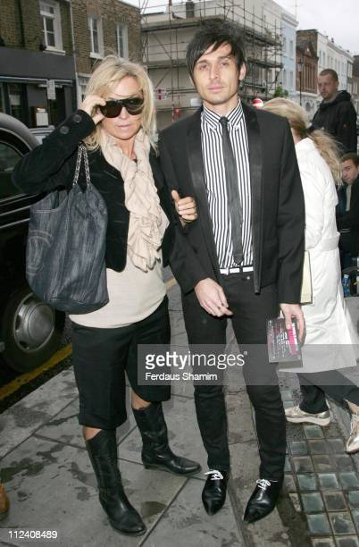 Meg Matthews and Guest during 'Joe Strummer The Future Is Unwritten' London Premiere Outside Arrivals at Coronet Cinema Notting Hill Gate in London...