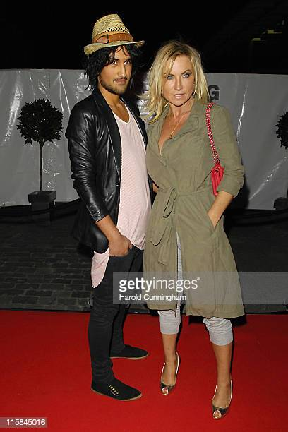 Meg Matthews and guest during LG Party Outside Arrivals at The Old Truman Brewery in London United Kingdom