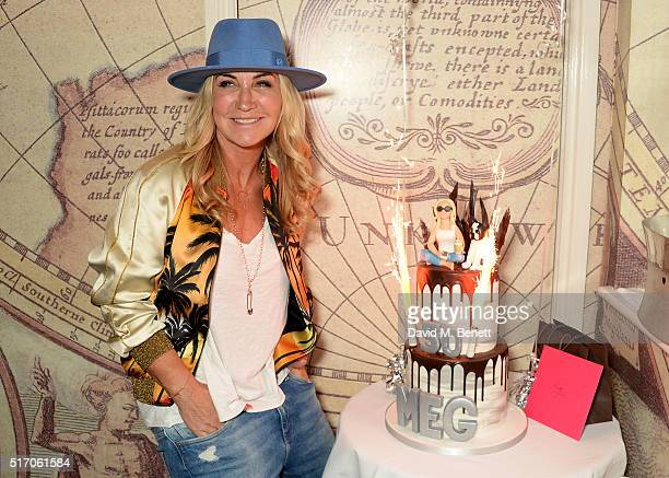 Meg Matthews attends her 50th birthday lunch at Mews of Mayfair on March 23 2016 in London England