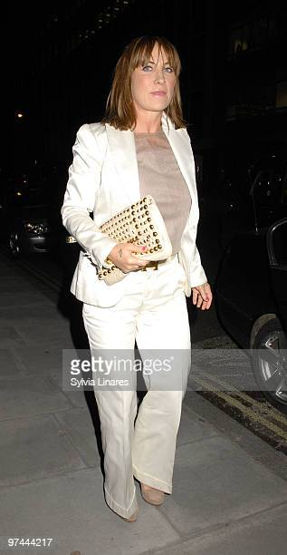 Meg Matthews attends White Ribbon Alliances Global Party Campaign held at Sanderson Hotel on March 4 2010 in London England