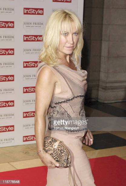 Meg Matthews during InStyle Magazine 5th Birthday Party at Victoria Albert Museum in London Great Britain