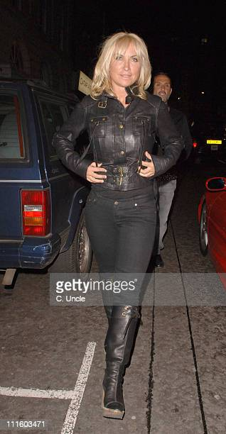 Meg Matthews during The LaurentPerrier Pink Party Outside Arrivals at Sketch in London Great Britain