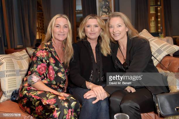 Meg Matthews Tina Hobley and Susan Springate attend the For Good Causes RECYCLE MY REWARDS Campaign dinner in aid of Global's Make Some Noise at...