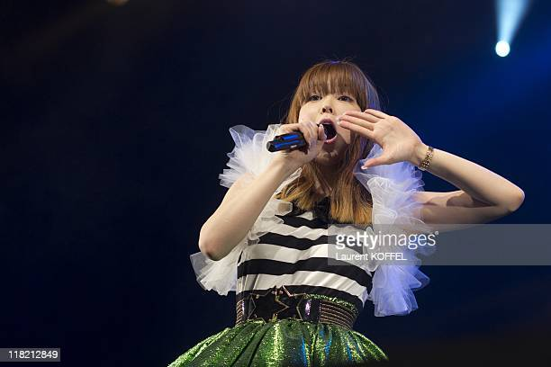 Meg performs during the Festival Japan Expo in Parc des Expositions on July 1 2011 in Villepinte France