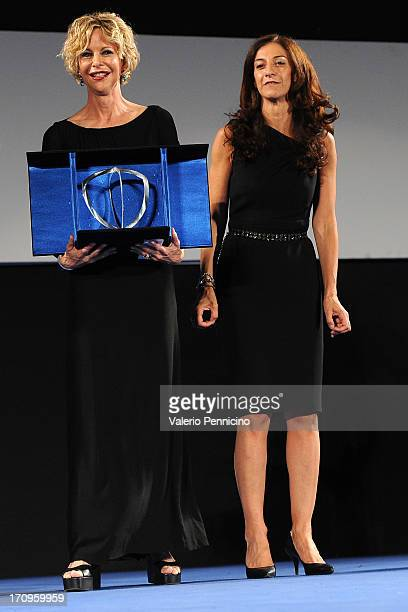 Meg Ryan and Antonella Bruno attend the Taormina Filmfest 2013 on June 20 2013 in Taormina Italy