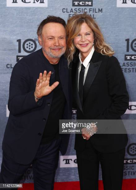 Meg Ryan and Billy Crystal arrive at the 2019 TCM Classic Film Festival Opening Night Gala And 30th Anniversary Screening Of When Harry Met Sally...
