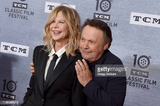 Meg Ryan and Billy Crystal attend the 2019 TCM Classic Film Festival Opening Night Gala And 30th Anniversary Screening Of When Harry Met Sally at TCL...