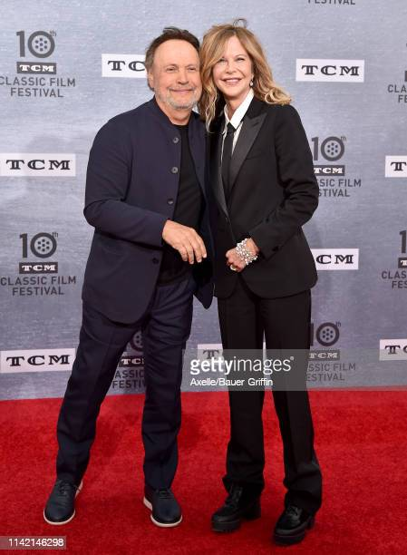 Meg Ryan and Billy Crystal attend the 2019 TCM Classic Film Festival Opening Night Gala and 30th Anniversary Screening of 'When Harry Met Sally' at...