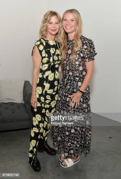 Meg Ryan and Gwyneth Paltrow attend the In goop Health Summit at 3Labs on June 9 2018 in Culver City California