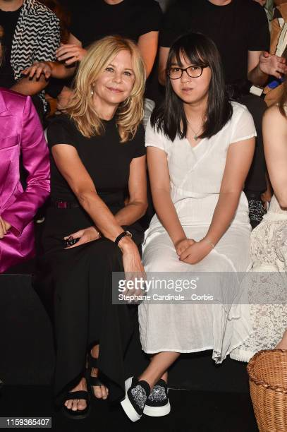 Meg Ryan and her daughter Daisy True Ryan attend the Schiaparelli Haute Couture Fall/Winter 2019 2020 show as part of Paris Fashion Week on July 01...