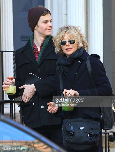 Meg Ryan and her son Jack Henry Quaid are seen on March 28 2011 in New York City