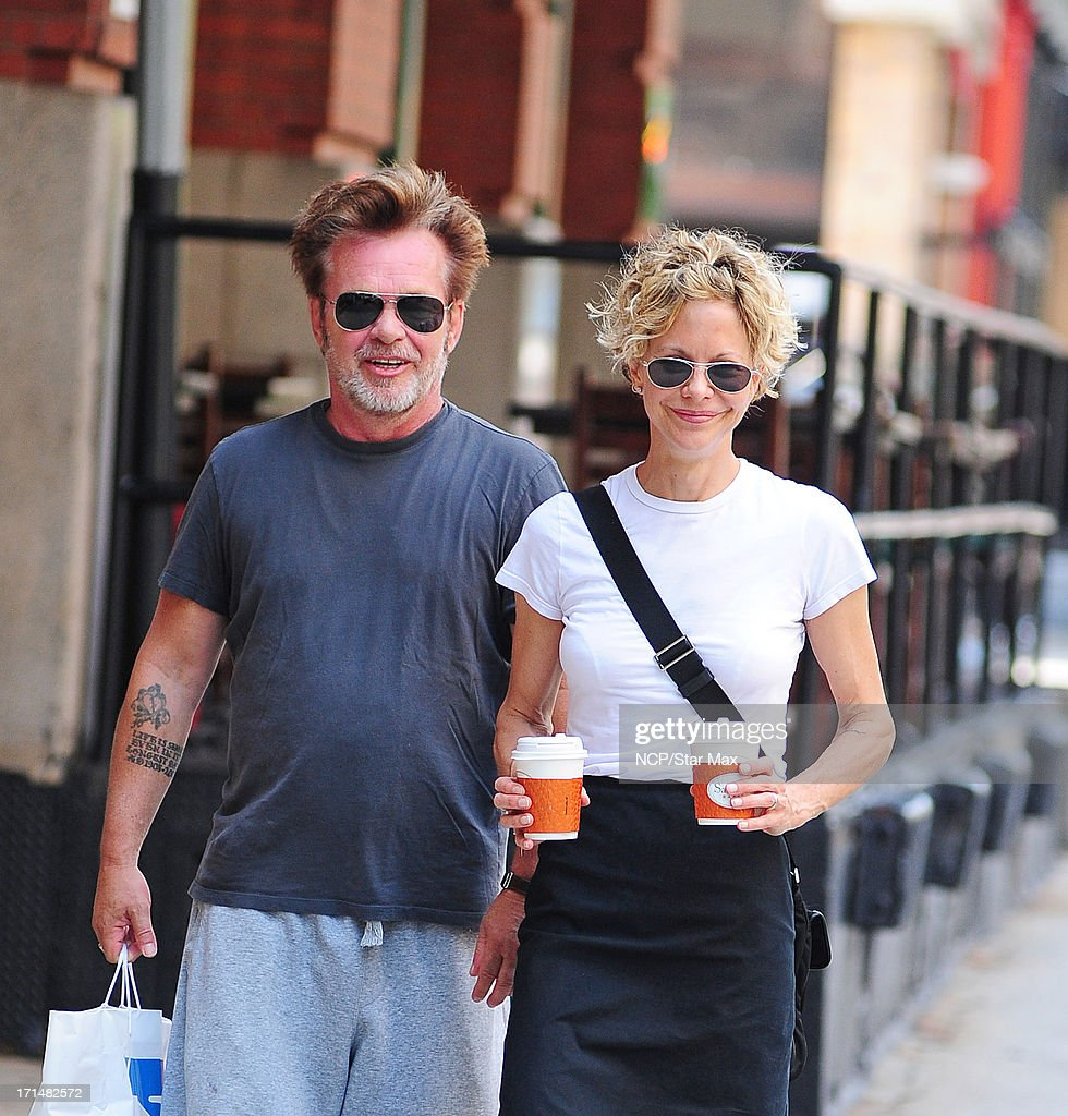 Meg Ryan and John Cougar Mellencamp as seen on June 24, 2013 in New York City.