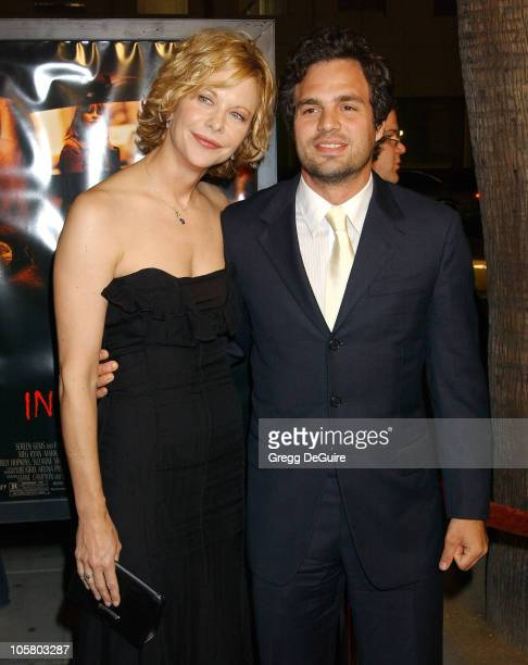 Meg Ryan and Mark Ruffalo during 'In The Cut' Los Angeles Premiere Arrivals at Academy Theatre in Beverly Hills California United States