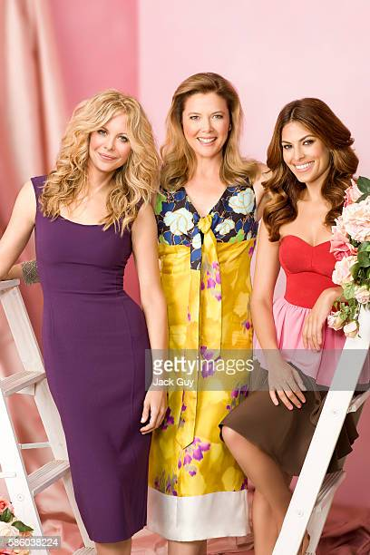 Meg Ryan Annette Bening and Eva Mendes are photographed for Parade Magazine in 2008 in Los Angeles California