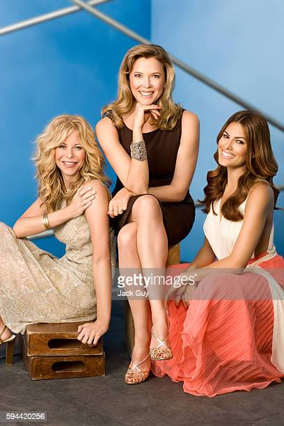 Meg Ryan Annette Bening and Eva Mendes are photographed for Parade Magazine in 2008 in Los Angeles California COVER IMAGE