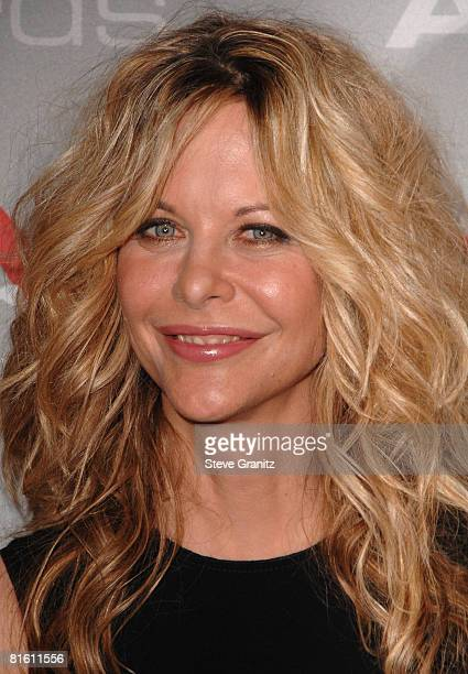 Meg Ryan arrives at The 2008 Crystal Lucy Awards 'A Black And White Gala' on June 17 2008 at the Beverly Hilton Hotel in Beverly Hills California