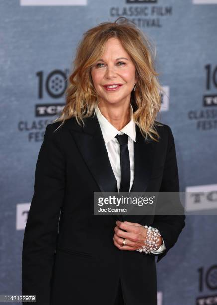 Meg Ryan arrives at the 2019 TCM Classic Film Festival Opening Night Gala And 30th Anniversary Screening Of When Harry Met Sally Arrivals at TCL...