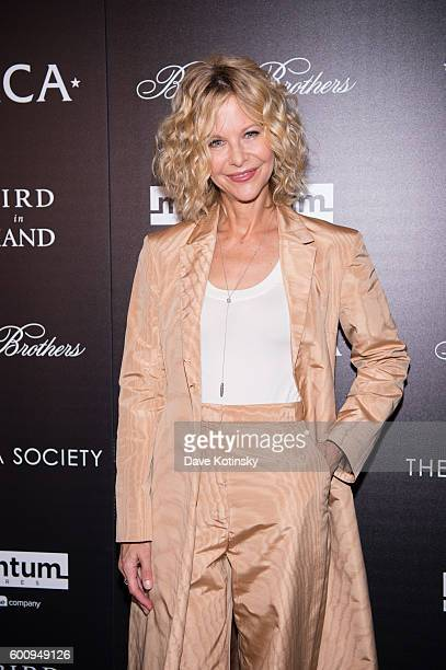 Meg Ryan arrives at the Cinema Society Screening Of 'Ithaca' at Landmark's Sunshine Cinema on September 8 2016 in New York City