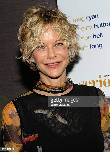 Meg Ryan attends the 'Serious Moonlight' New York premiere at Cinema 2 on December 3 2009 in New York City