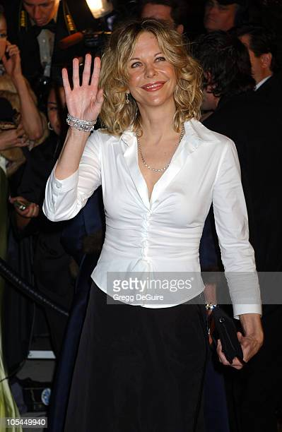 Meg Ryan during 2005 Vanity Fair Oscar Party Arrivals at Mortons in Los Angeles California United States
