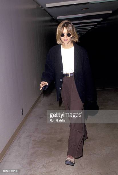 Meg Ryan during Meg Ryan Sighted at LAX February 9 1994 at Los Angeles International Airport in Los Angeles California United States