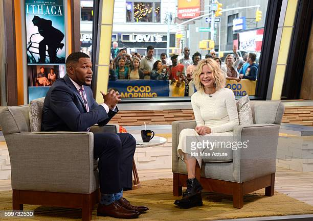 AMERICA Meg Ryan is a guest on 'Good Morning America' 9/6/16 airing on the ABC Television Network MICHAEL
