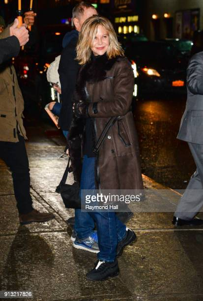 Meg Ryan is seen in Soho on February 1 2018 in New York City
