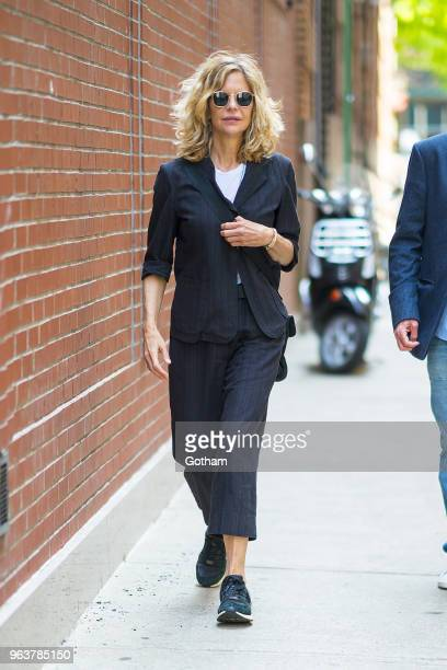 Meg Ryan is seen in Tribeca on May 30 2018 in New York City