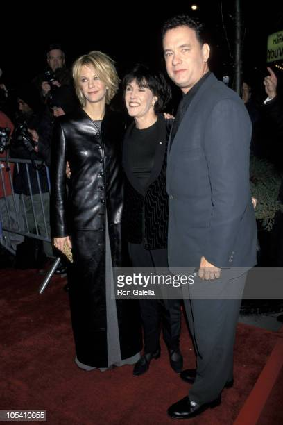 """Meg Ryan, Nora Ephron and Tom Hanks during """"You've Got Mail"""" New York Premiere at Ziegfeld Theatre in New York City, New York, United States."""