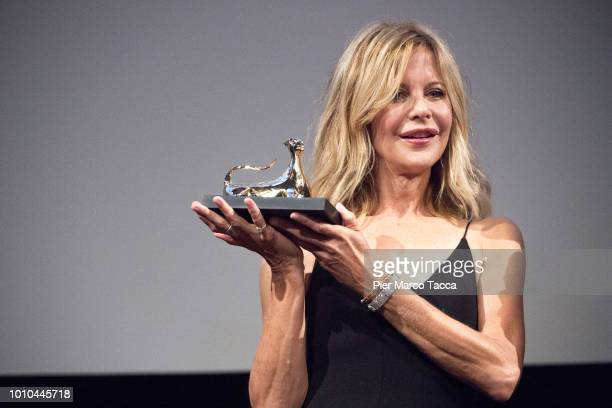 Meg Ryan receives Leopard Club Award during the 71st Locarno Film Festival on August 3 2018 in Locarno Switzerland