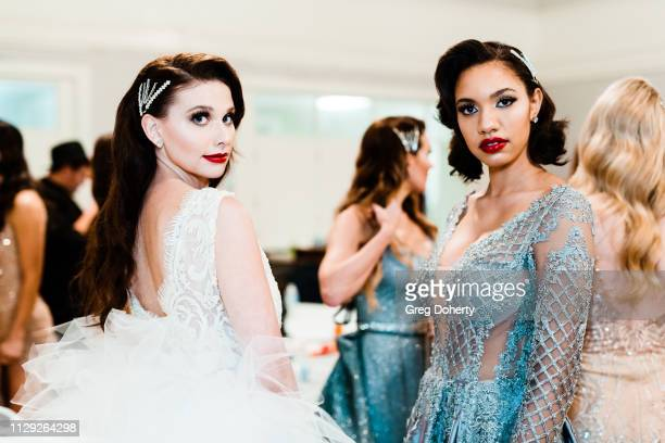 Meg Taylor and Olivia Rae model at the Sanctuary Fashion Week on March 7 2019 in Los Angeles California