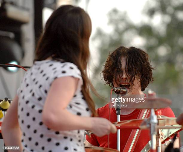 Meg White and Jack White of The White Stripes during Bonnaroo 2007 Day 3 The White Stripes at Which stage in Manchester Tennessee United States