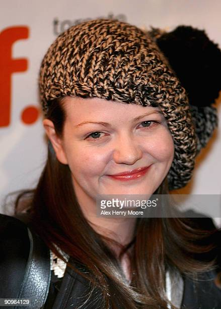Meg White attend The White Stripes Under Great White Northern Lights premiere held at The Visa Screening Room at the Elgin Theatre during the 2009...