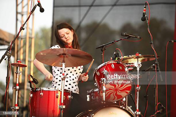 Meg White of The White Stripes during Bonnaroo 2007 Day 3 The White Stripes at Which stage in Manchester Tennessee United States