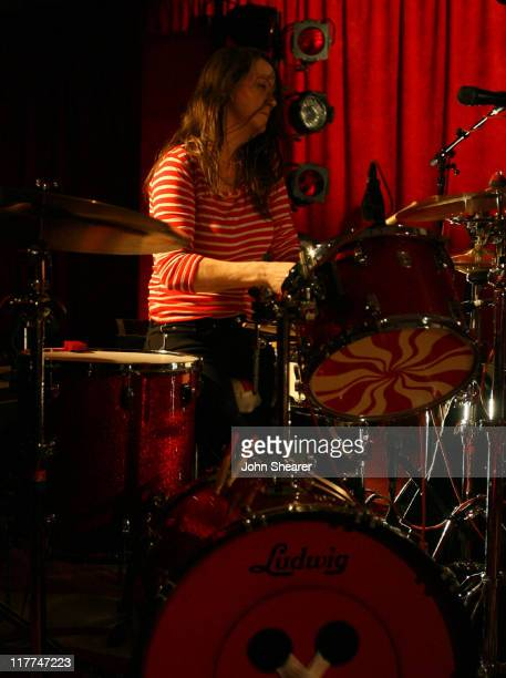 Meg White of The White Stripes during The White Stripes Perform At Icky Thump Records at Icky Thump Records in West Hollywood California United States