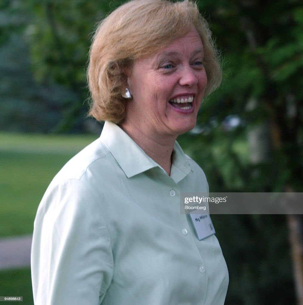 Meg Whitman, CEO, eBay Inc  walks to the morning session at the