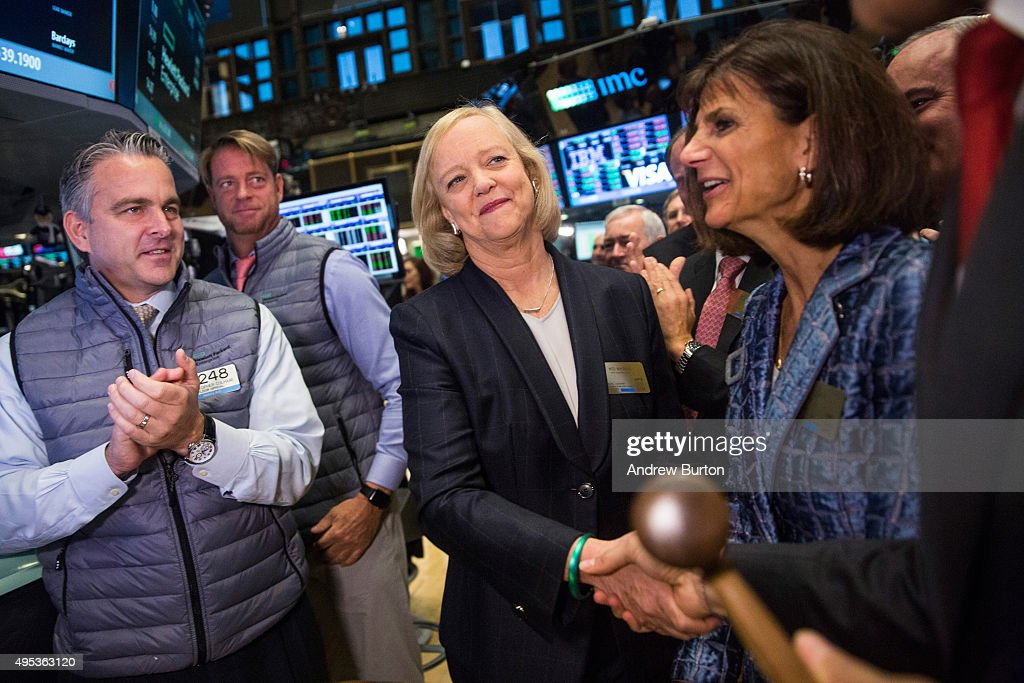 Hewlett Packard CEO Meg Whitman Rings NYSE Opening Bell