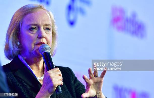 Meg Whitman CEO of streaming service Quibi speaks at WSJ Tech Live 2019 in Laguna Beach California on October 22 2019