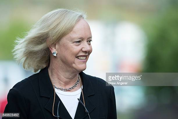 Meg Whitman chief executive officer of Hewlett Packard attends the annual Allen Company Sun Valley Conference July 8 2016 in Sun Valley Idaho Every...