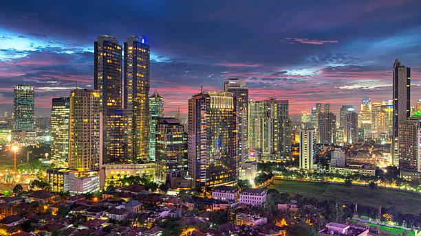 Mega Kuningan CBD Jakarta Sunset Wall Art