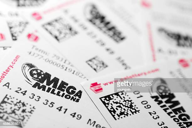 mega millions lottery - lottery ticket stock pictures, royalty-free photos & images